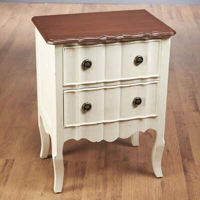 2 Drawer Nightstand Finish: White