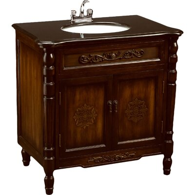 32 Single Bathroom Vanity Set Base Finish: Antique Brown