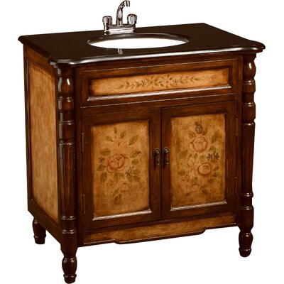 32 Single Bathroom Vanity Set Base Finish: Antique Light/Dark Brown