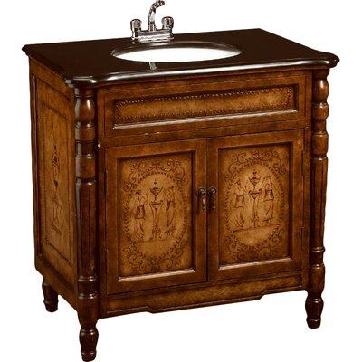 32 Single Bathroom Vanity Set Base Finish: Medium Brown