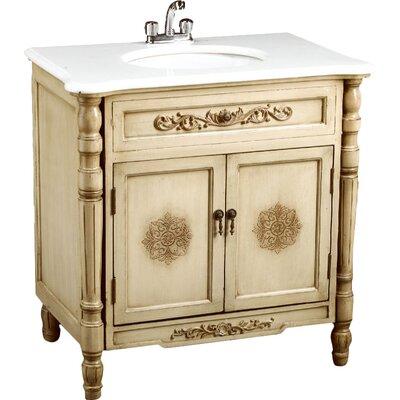 32 Single Bathroom Vanity Set Base Finish: Antique Ivory