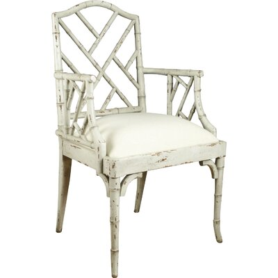 Chinese Chippendale Armchair Finish: Distressed Parchment