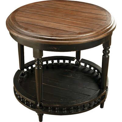Round Plank Top End Table Color: Mahagony