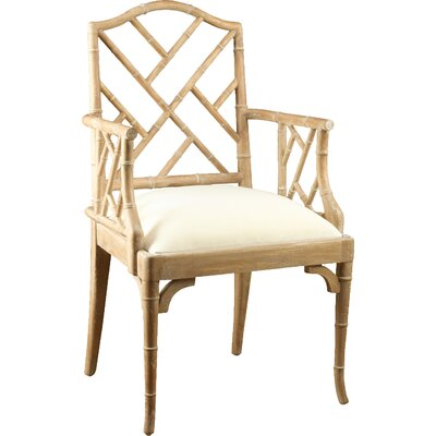 Chinese Chippendale Armchair Finish: Pickled