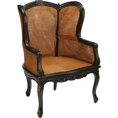 Double Caned Armchair Finish: Black