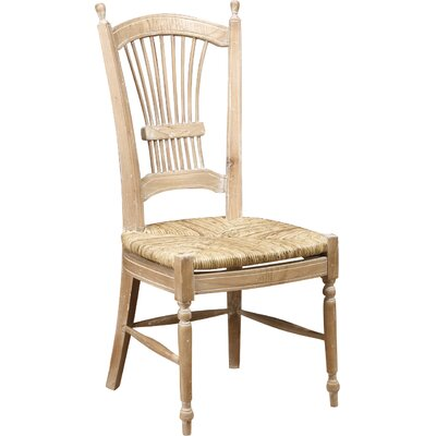 Wheat Back Side Chair Color: Natural