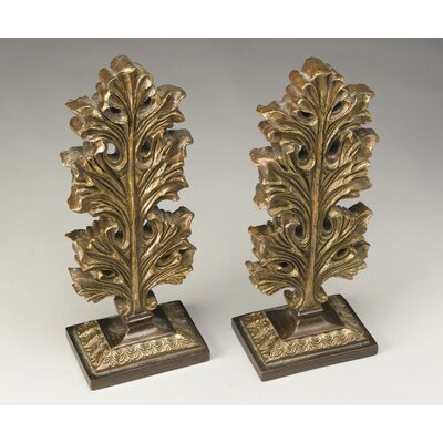 Leaf Finial Sculpture Color: Antique Gold