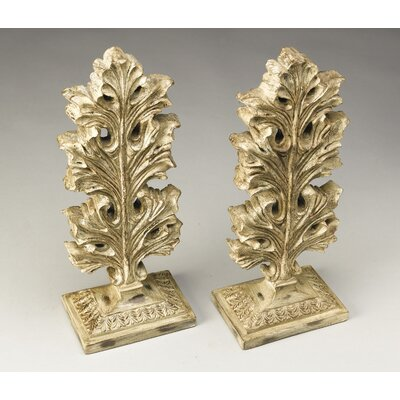 Leaf Finial Sculpture Color: Antique Stone