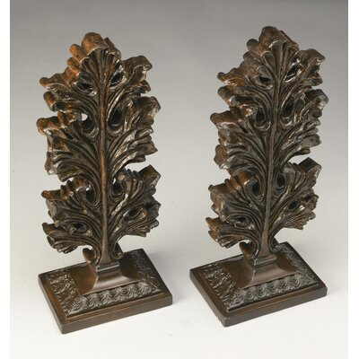 Leaf Finial Sculpture Color: Antique Brown
