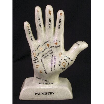 Ceramic Palmistry Hand Figurine