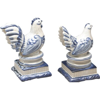 2 Piece Rooster and Chicken Figure Set