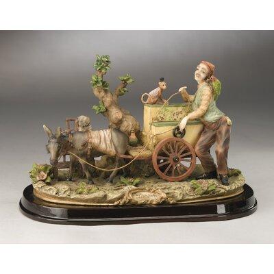 Organ On Cart With Monkey Figurine
