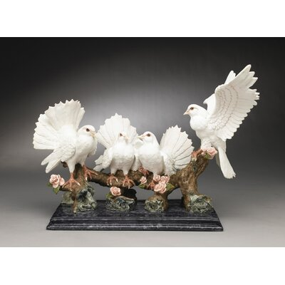 Love Birds On A Branch Figurine