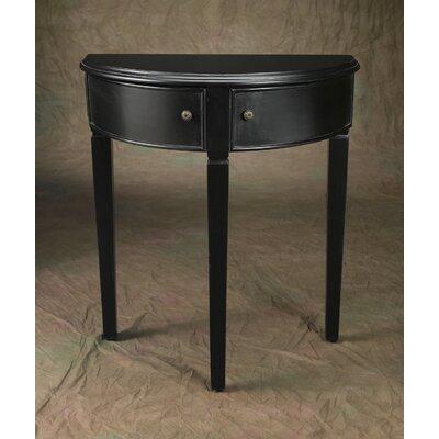Demilune Console Table Finish: Black