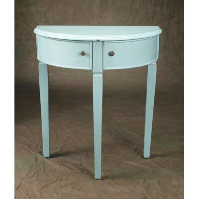 Demilune Console Table Finish: Light Blue