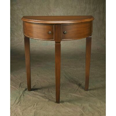 Demilune Console Table Finish: Brown