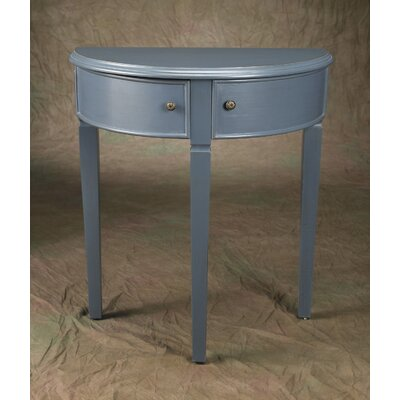 Demilune Console Table Finish: Blue