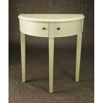 Demilune Console Table Finish: Tan