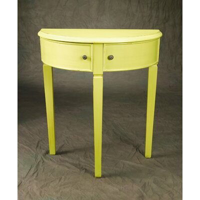 Demilune Console Table Finish: Yellow