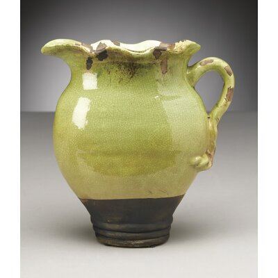 Crackle Finish Ceramic Pitcher