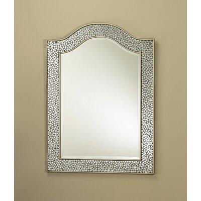 Mosaic Glass Bordered Beveled Wall Mirror Finish: Silver