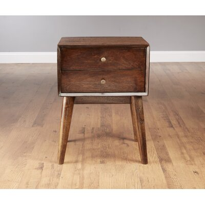 Mid Century Style End Table Color: Pecan