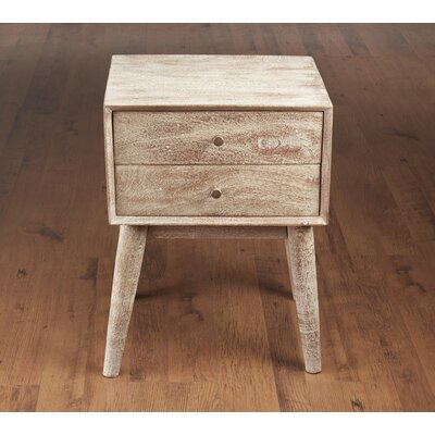 Mid Century Style End Table Color: Weathered Sand