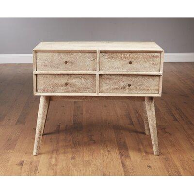 Mid Century Style 4 Drawer Dresser  Finish: Weathered Gray