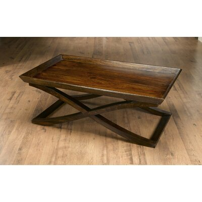 Vermont Coffee Table with Tray Top Color: Pecan