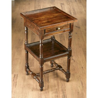 Imane End Table with Storage Color: Pecan