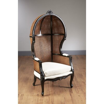 Bonifant Wicker Balloon Chair Finish: Black