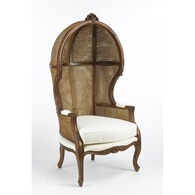 Bonifant Wicker Balloon Chair Finish: Walnut