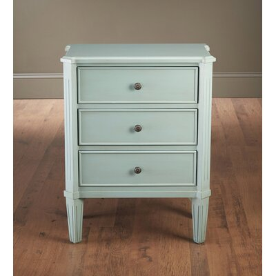 Kaydance 3 Drawer End Table Color: Light Blue