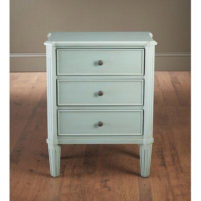 Kaydance 3 Drawer End Table Color: Light Blue