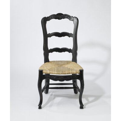 Evelyn Solid Wood Dining Chair Color: Black