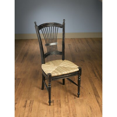 Wheat Back Side Chair Color: Black