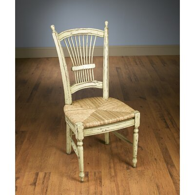 Wheat Back Side Chair Color: Parchment