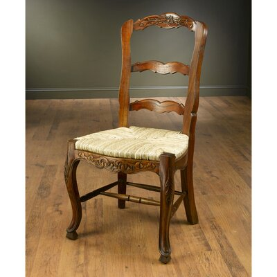 Evelyn Solid Wood Dining Chair Color: Walnut