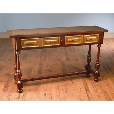 Console Table Finish: Distressed Antique Red and Gold