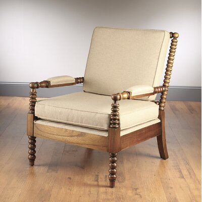 Bobbin Armchair Finish: Walnut / Taupe