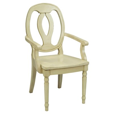 Arm Chair Finish: Antique White