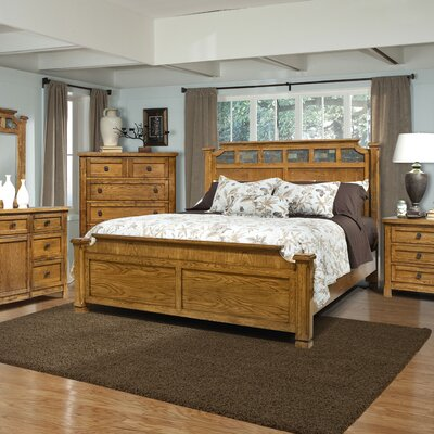 Easy furniture financing Ranchero Panel Bedroom Collection...