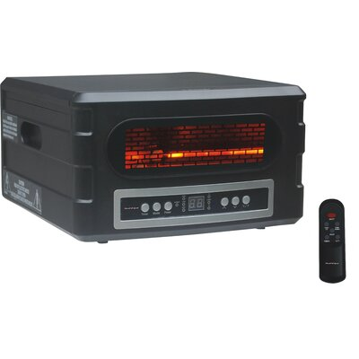 1,500 Watt Portable Electric Infrared Compact Heater with Remote Control