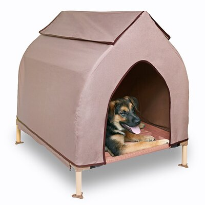 "Cool Cot Dog House Size: Large (37"" H x 39"" W x 31"" L)"