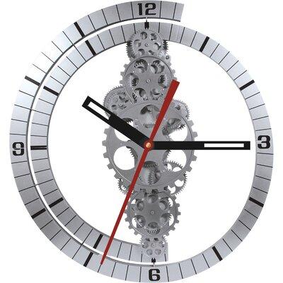 17 Stories Oversized Bjoern 24 Moving Gear Wall Clock