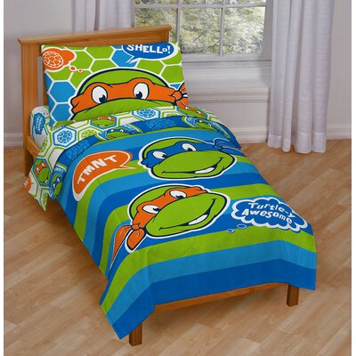 Teenage Mutant Ninja Turtles Awesome Toddler Bedding Set JF21587WFML