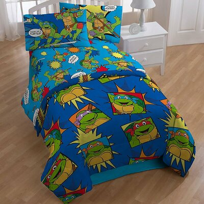 Teenage Mutant Ninja Turtle 4 Piece Twin Comforter Set CO0053-19