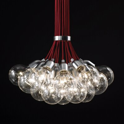 Ilde 13 Light Pendant Cord Color: Red