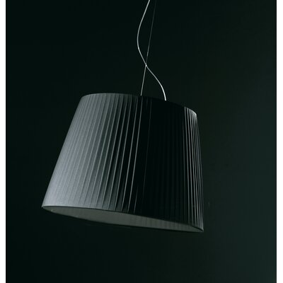 Royal S Drum Pendant Shade Color: Black Size: Medium Image