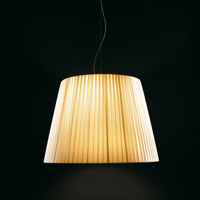 Royal S Oversized Drum Pendant Shade Color: Beige
